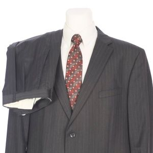 Jones New York Charcoal Gray Pinstripe Wool Suit